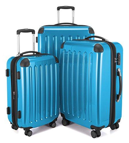 Hauptstadtkoffer Gepäck-Set Alex, TSA, Hellblau + Gepäckgurt