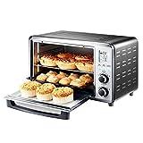 DULPLAY 30L Mini Toasterofen,Besten Konvektion, Digitale Essen,Grillen-Rack Beinhaltet,Arbeitsplatte Ofen Digital Poliertem Edelstahl Toast Home Küche-Silber 46.2x40x30cm(18x16x12inch)