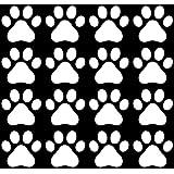 Huellas de perro–acabado mate vinilo adhesivo de vinilo para paredes, electrónica (Variaciones de color disponibles)