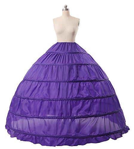 O.D.W A-Linie Voller Slip Lange Hochzeitskleider Party Krinoline Kleider Petticoat 6 Reifen...