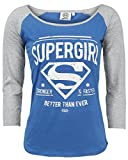 Supergirl Stronger & Faster Manches Longues Femme bleu/gris XS