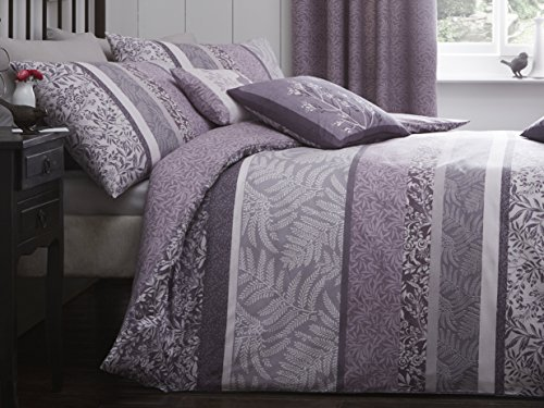 DREAMS AND DRAPES Dreams & Drapes - Hanworth - Easy Care Duvet Cover Set - Double, Heather