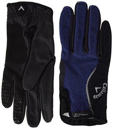 Callaway CG GL X-Spann Rain – Gants de Golf pour Homme, Noir/Bleu