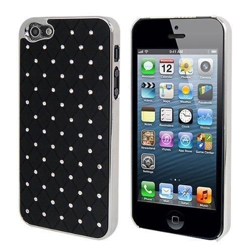 custodie-e-cover-se-lux-guscio-iphone-5s-5-diamond-diamond-rigido-colore-nero-copertura-di-caso-dell