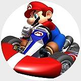 Tortenaufleger Tortenfoto Aufleger Foto Bild Super Mario Bros rund ca. 20 cm Mario Kart (21) *NEU*OVP*