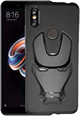 AJM 3D Design Avenger Logo Matte Finish Soft Rubberised Back Cover for Redmi Note 5 Pro