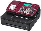Casio SE-S100SB-RD-FIS GDPdU-fähige Registrierkasse inclusive Softwarelizenz, SD-Card und Batterie Komplettpaket und kostenfreier Hotline, rot/schwarz