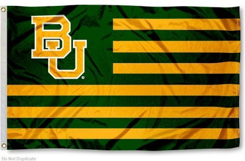 Baylor BU Alumni Nation Stripes Flag by College Flags and Banners Co. -
