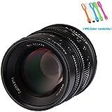 7artisans 55mm F1.4 APS-C Large Aperture Manual Focus Prime Fixed Lens For Canon EOS-M Mount Cameras M1,M2,M3,M5,M6,M10,M100- Black (55mm F1.4 Canon EOS-M Mount)