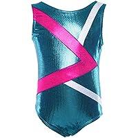Dancina Mädchen Gymnastikanzug elastischer Turnanzug aus glänzendem Stoff