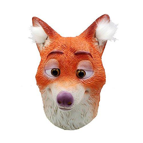 Fox Mask Halloween Dekoration Kostüm Maske Cosplay Volle Kopfmaske Latex Fire Wolf