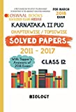 Oswaal Karnataka PUC II Chapterwise Solved papers with Topper's Ans. Class 12 Biology