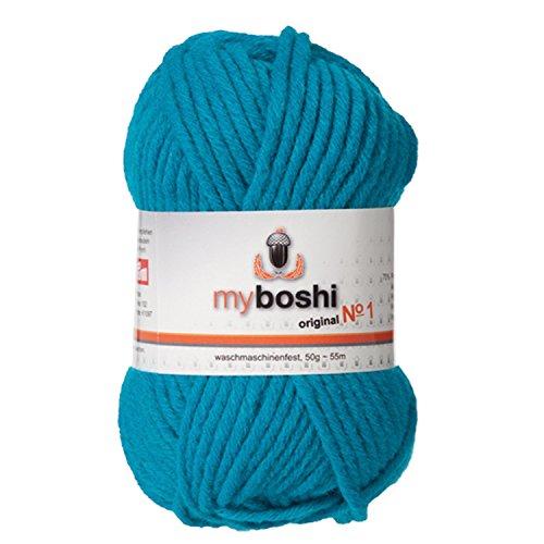 myboshi Häkel-/Strickgarn, Wolle-Mix, türkis