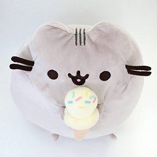Enesco 4048872 Gund Pusheen mit Ice Cream, 24.0cm, grau, Plüschtier -