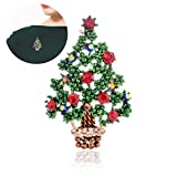 Hilai Wunschbaum Brosche Kristall Weihnachtsbaum Brosche Frauen
