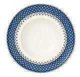 Villeroy & Boch Casale Blu Suppenteller, 25 cm, Premium Porzellan, Weiß/Blau