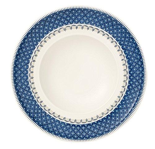Villeroy & Boch Casale Teller tief, Porzellan, Blau/Weiß, 25cm