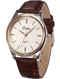 AMPM24 WAA675 - Reloj para mujeres, correa de cuero color marrón