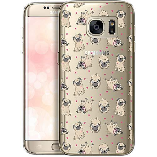 OOH!COLOR Handyhülle kompatibel mit Samsung Galaxy S7 Hülle transparent Muster Silikon Ultra dünn Schutzhülle durchsichtig Bumper Case für Samung S7 G930F H& Mops (EINWEG)