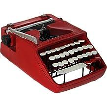 DonRegaloWeb - Figura de una máquina de escribir de resina decorada en color rojo