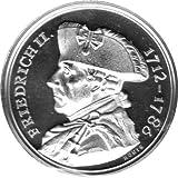 """Médaille """"205. Todestag Friedrich II. - Heimkehr nach Sanssouci"""" Fleur de coin, Argent 999"""