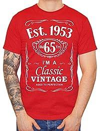IiE, 65th Birthday, Est. 1953, Vintage year, Mens Gift T-shirt,