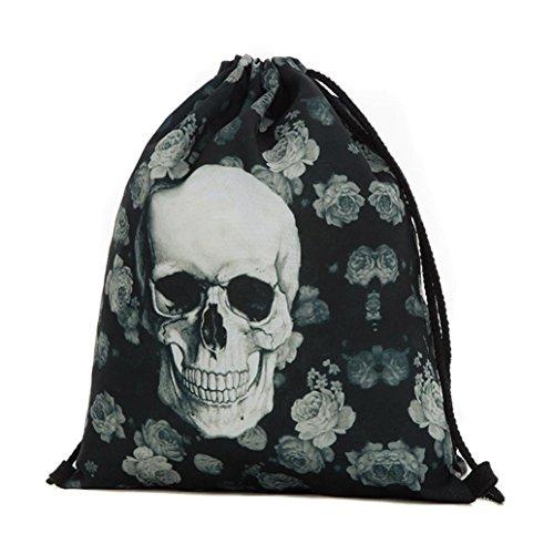 Longra Sacchetto del drawstring del sacchetto di immagazzinaggio della porta del fascio di Halloween D Colorido Compras En Línea Barato En Línea oxC4491xN