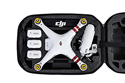 DJI Hardshell Carry Case Backpack with Drone Moulds Compatible with DJI Phantom 3 Advanced and Professional Aerial UAV Quadcopter Drone and Accessories - Black