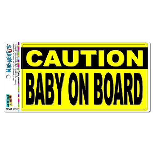 ACHTUNG BABY ON BOARD Mag-Neato 's-TM) Automotive Auto Motorhaube Kofferraum Kühlschrank Locker Vinyl Magnet