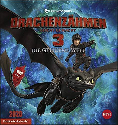 Dragons Postkartenkalender Kalender 2020