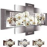 Bilder 200 x 100 cm - Orchidee Bild - Vlies Leinwand - Kunstdrucke -Wandbild - XXL Format – mehrere Farben und Größen im Shop - Fertig Aufgespannt !!! 100% MADE IN GERMANY !!! - Blumen – Abstrakt 205451b