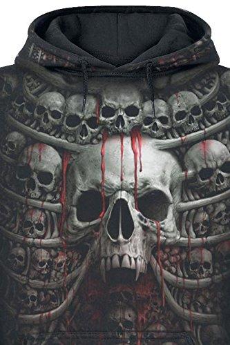 Spiral Death Ribs Sweat à capuche noir Noir