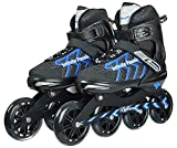 #8: IRIS IR-301 Carbon-Steel Adjustable Inline Skates 100 mm, Large (Size: 6-8 UK)
