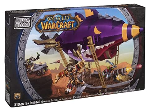 Megabloks - 91014U - Jeu de Construction - World Of Warcraft - Goblin Zeppelin Ambush