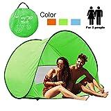 Tente de Plage avec protection anti-UV UPF 50+ pour 2 à 3 personnes XS Green