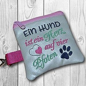 Kotbeutelspender Ein Hund ist ein Herz auf vier Pfoten, champagner