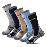 NEEKFOX Calcetines de Senderismo para Hombre Cushion Crew,Calcetines de Deporte al Aire Libre de Rendimiento múltiple (02. Tamaño Grande (Adecuado para Zapatos de Hombre 43-46))