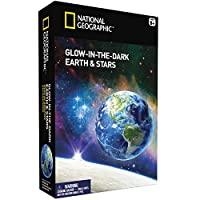 NATIONAL GEOGRAPHIC Glow in the Dark Earth and Stars (Improved Glow as of Aug. 2016!)