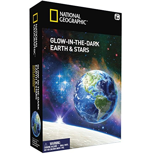 National Geographic Glow in The Dark Earth und Sterne - Platz Motto Wand Dekorationen