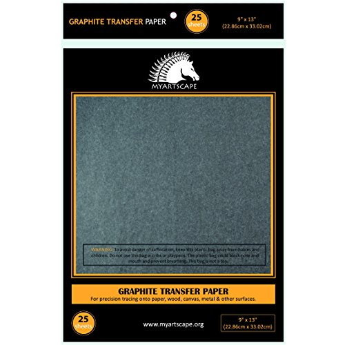 graphite-transfer-paper-25-sheets-9-x-13-for-tracing-designs-to-wood-paper-canvas-other-surface-art-