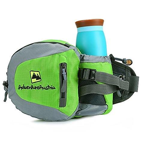 Grün Super leichtes Sport Hüfttasche mit Getränkehalter von AdventureAustria. Wasserbeständiges