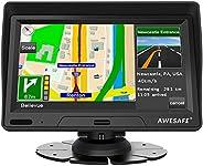 AWESAFE Auto GPS Navigation für LKW PKW 7 Zoll Navigationsgerät mit Sonnenschutz, 2020 Europa Map lebenslang k