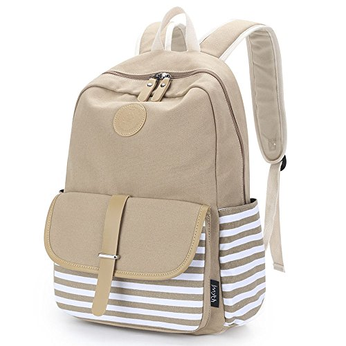 Verbesserte Imyth Causal Leinwand Schule Rucksack Laptoptasche für Teen (Jansport Canvas Rucksack)