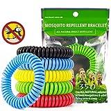 JAMSWALL Bracciale Anti-zanzare, 10 Pezzi Braccialetti Anti-zanzare per Zanzare per Protezione Ideale per Viaggi Esterni (Adulti e Bambini)