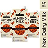 Urban Platter Unsweetened Almond Milk, 1 Litre [Pack of 3, Barista-Grade, Lactose-Free, Plant-Based
