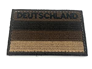 Deutschland Allemand Brun Discret Brodé Airsoft Morale Patch