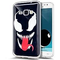 Galaxy J5 2016 caso, rasguñar-Prueba ikasus trisunuk cristalina goma silicona TPU transparente con carcasa resistente a los golpes para Samsung Galaxy J5 2016 The Devil's Tongue