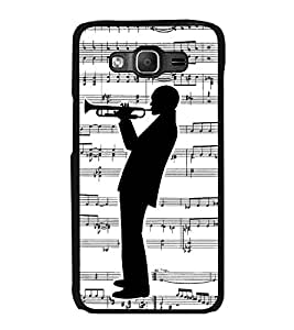 Printvisa Ultra Man with Music 2D Hard Polycarbonate Designer Back Case Cover for Samsung Gal...