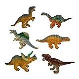 Aigoode Pädagogische realistische Dinosaurier Spielzeug Set Kinder Kunststoff Dinosaurier-Figur 6ST