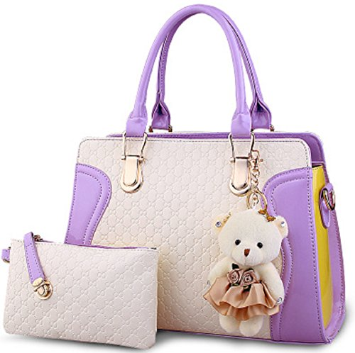 ladies-designer-leather-handbag-celebrity-tote-panda-shoulder-satcel-faux-bag-purple